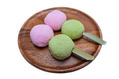 Boulette japonaise - dango de hanami Photos stock