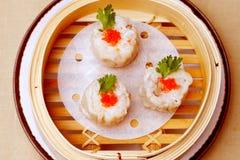 Boulettes chinoises de fruits de mer Photos stock