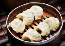 Boulettes cuites à la vapeur Photos libres de droits