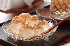 boulettes de Fougère-amidon, bonbons japonais Photos stock