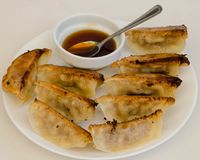 Boulettes de Gyozas chinoises Photo stock