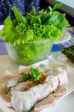 Boulettes de riz-peau cuites à la vapeur par Vietnamien Images stock