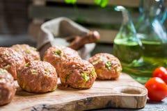 Boulettes de viande avec du riz et le chou de Milan Image libre de droits