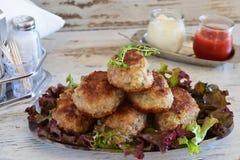 Boulettes de viande avec l'aubergine et le tomatosauce, yaourt images stock