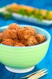 Boulettes de viande avec la sauce tomate Image stock