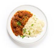 Boulettes de viande d'Arabe de basha de Dawood Photographie stock