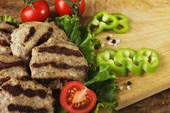 Boulettes de viande de boeuf Images libres de droits