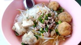 Boulettes de viande de nouilles de riz Photos libres de droits