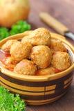 Boulettes de viande en sauce tomate Image stock
