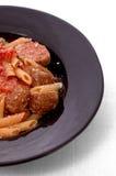 Boulettes de viande et pâtes Photos libres de droits