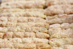 Boulettes de viande faites à partir du porc. Photos stock
