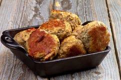 Boulettes de viande frites Photos stock