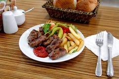 Boulettes de viande frites Image libre de droits