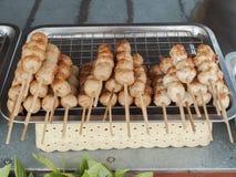Boulettes de viande grillées qui est délicieux et bon marché Photo libre de droits