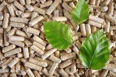 Boulettes en bois Image stock