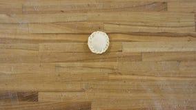 Boulettes faites main en gros plan de vue supérieure scène Belle boulette mince de chef sur la table en bois Concept de tradition photographie stock libre de droits
