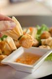 boulettes frites Photos libres de droits