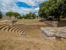 The Bouleuterion in the Agora of the Greek city of Paestum, Italy Royalty Free Stock Photos