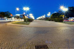 Boulevar Gdynia Arkivfoto