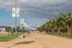 Boulevard à Batumi, images stock