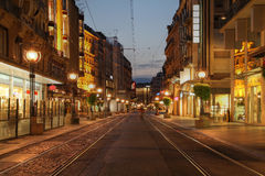 Boulevard à Genève, Suisse Image stock