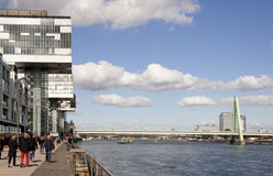 Boulevard along the river Rhine in Cologne Stock Images