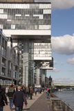 Boulevard along the river Rhine in Cologne Stock Photos