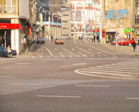 Boulevard Calea Victoriei in zentralem Bukarest, Rumänien Lizenzfreies Stockfoto