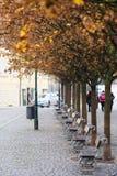 Boulevard in a center of Prague Royalty Free Stock Photos