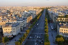 Boulevard Champs Elysees Stock Images