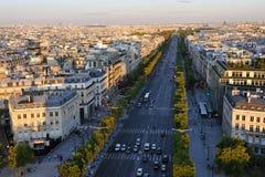 Boulevard Champs Elysees Stock Afbeeldingen