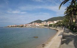 Boulevard in the city Ajaccio on the island Corsica Royalty Free Stock Images