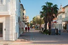 Marotta, the boulevard. The boulevard in the city center of Marotta, Italy Stock Photo