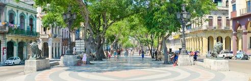 Boulevard d'EL Prado à vieille La Havane Images libres de droits