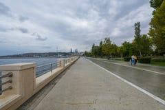 Boulevard de Bakou, route de pied Images stock