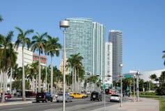 Boulevard de Biscayne à Miami Images stock
