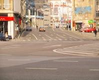 Boulevard de Calea Victoriei à Bucarest centrale, Roumanie Photo libre de droits