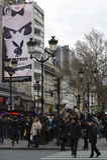 巴黎Boulevard de Clichy 库存照片
