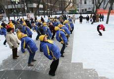 Boulevard de forme physique de l'hiver Image libre de droits