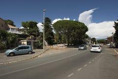 Boulevard DE La Corne d'Or, Villefranche-sur-Mer, Frankrijk Stock Foto's