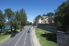 Boulevard de la Ligne, Avignon, Frankrike Arkivbild