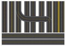 Boulevard de rue d'avenue de chaussée de route de RoyalRoad de manière de route illustration de vecteur