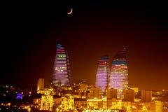 Boulevard de ville de Bakou photographie stock