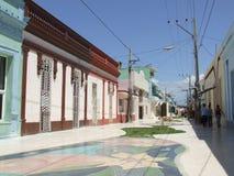 Boulevard della città di Bayamo Immagine Stock Libera da Diritti