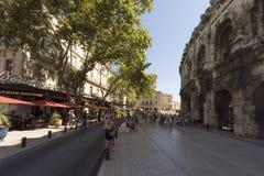 Boulevard des Arènes, Nîmes, France Stock Image
