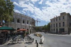 Boulevard des Arènes, Nîmes, France Stock Photos