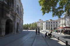 Boulevard des Arènes, Nîmes, France Royalty Free Stock Image