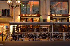 Boulevard des Pyrenees at winter sunrise Royalty Free Stock Photography