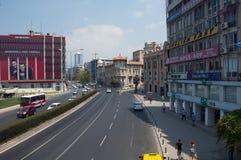 Boulevard di Cumhuriyet a Smirne immagine stock libera da diritti