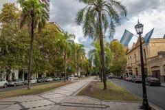 Boulevard di Orono - Rosario, Santa Fe, Argentina Fotografia Stock